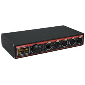 XND-4B5 10 48 11: 4-port Ethernet DMX node, ボックス型, 5-pin XLRs