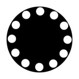 Apollo Dots in a Circle - Medium ME-2040