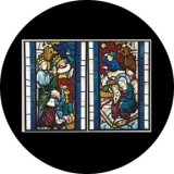 86674 Nativity Stained Glass
