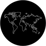 78086 (DHA# 8086) The World Outline